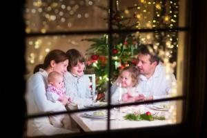 Kerstmis na echtscheiding diner